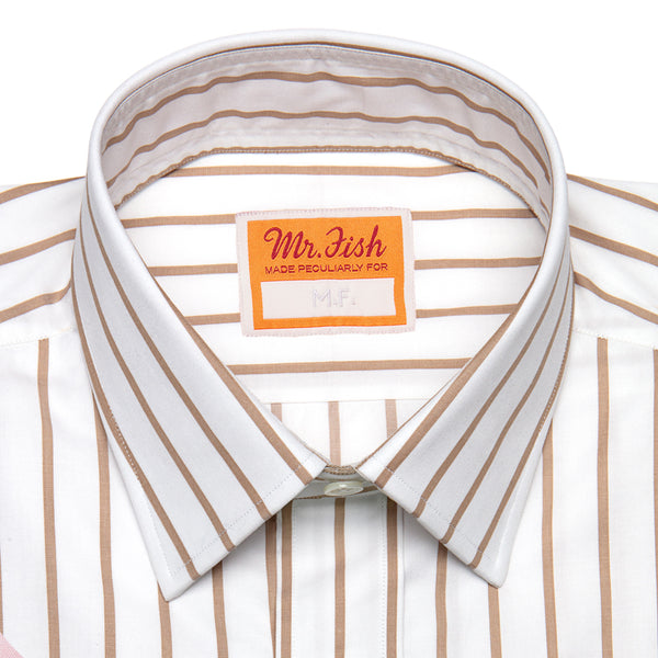 Taupe Striped Shirt