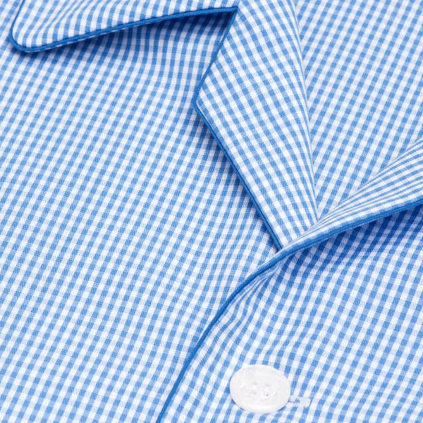 Gingham Blue Check Cotton Classic Fit Pyjamas