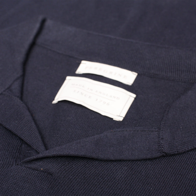 Navy Knitted Emery Polo Shirt