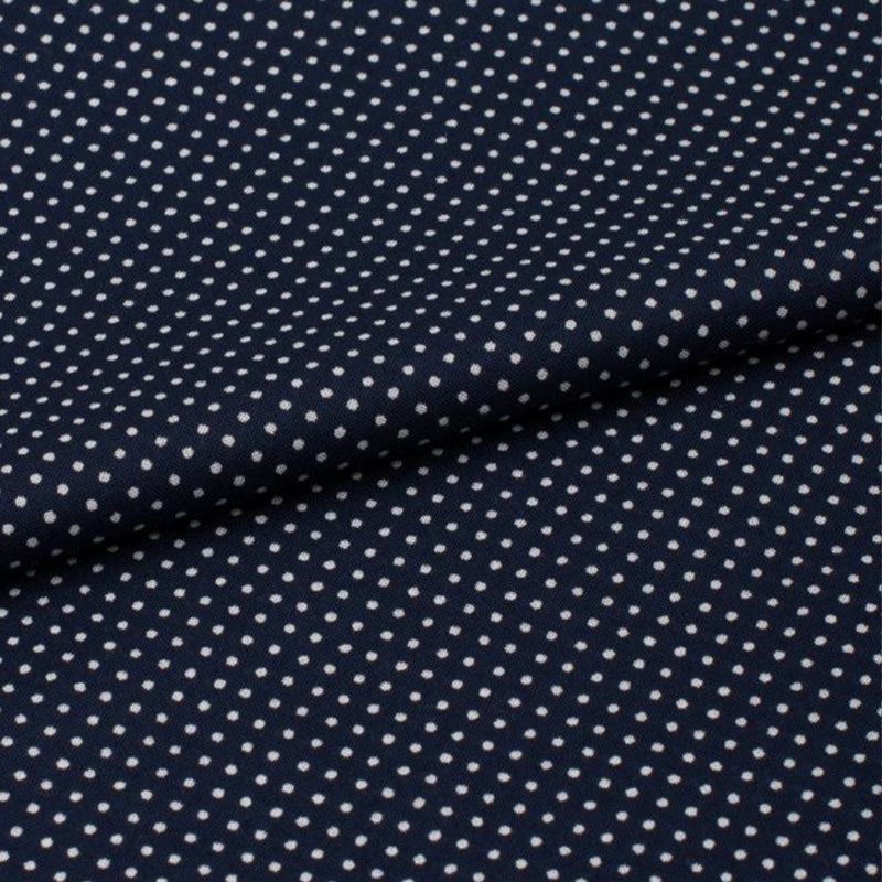 Plaza 21 Navy Polka Dot Cotton Batiste Dressing Gown