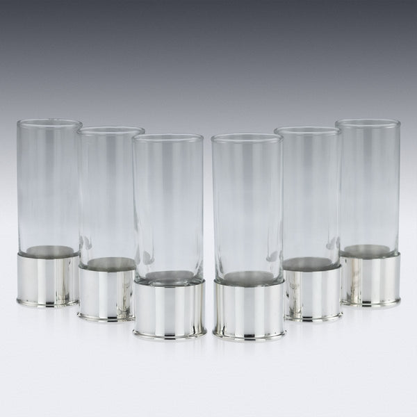 Butt Marker 12 Solid Silver Shot Glasses, Pushkin Alexander c.2019