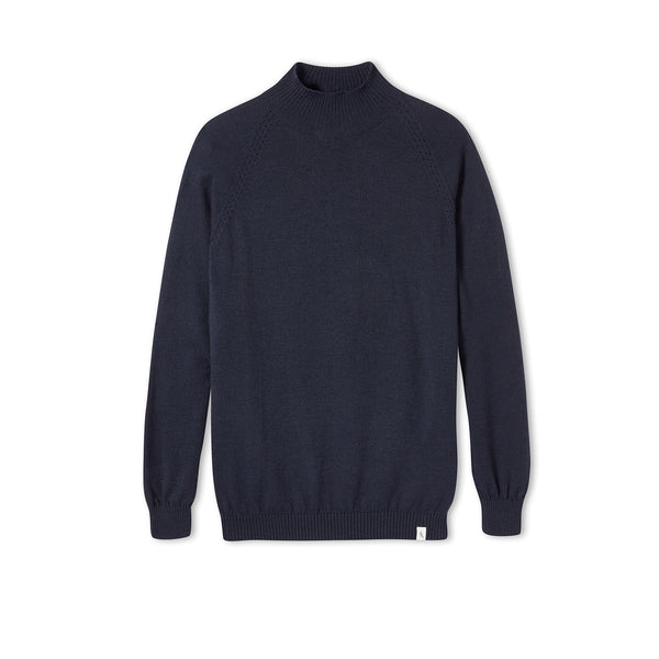 Navy Beauford Funnel Neck