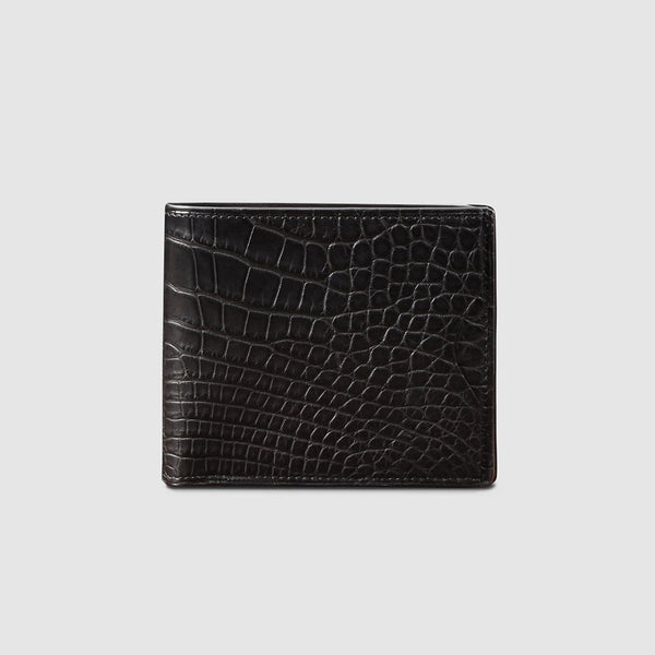 Black Crocodile Thin Billfold