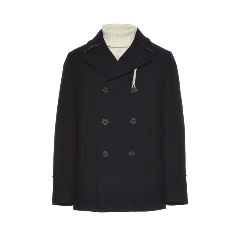 "Navy ""Rain Wool"" Peacoat"