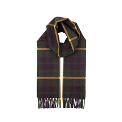 Sage Cashmere Check Scarf with Gift Box