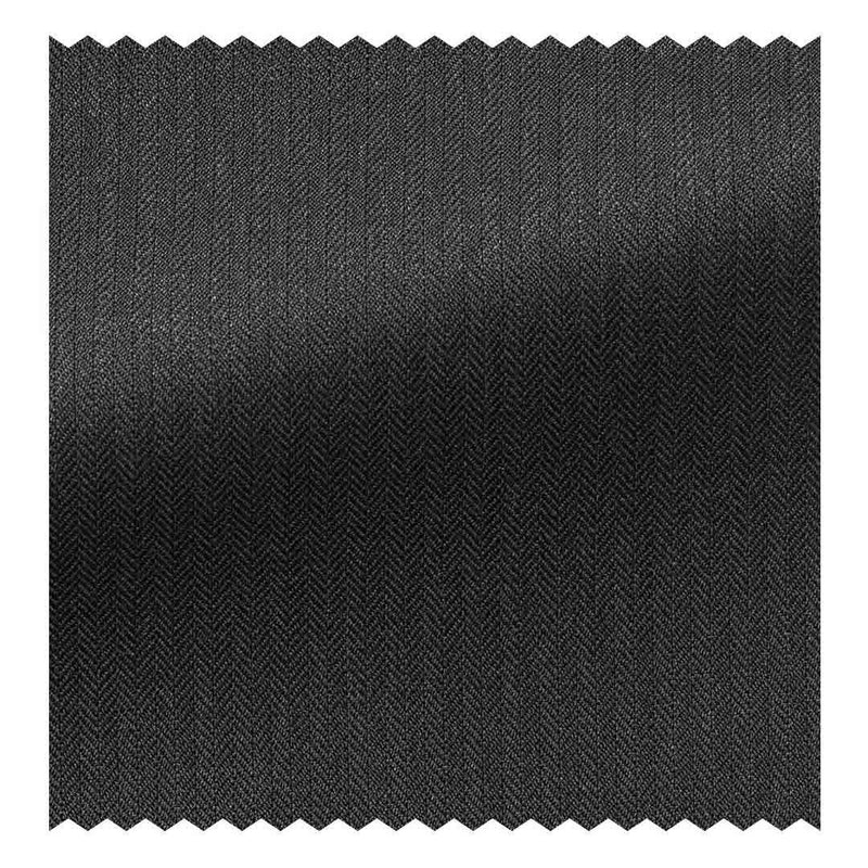 Charcoal Grey Fine Herringbone Four Seasons (130'S)