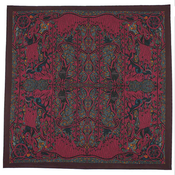 Enchanted Forest Pheasant - Burgundy