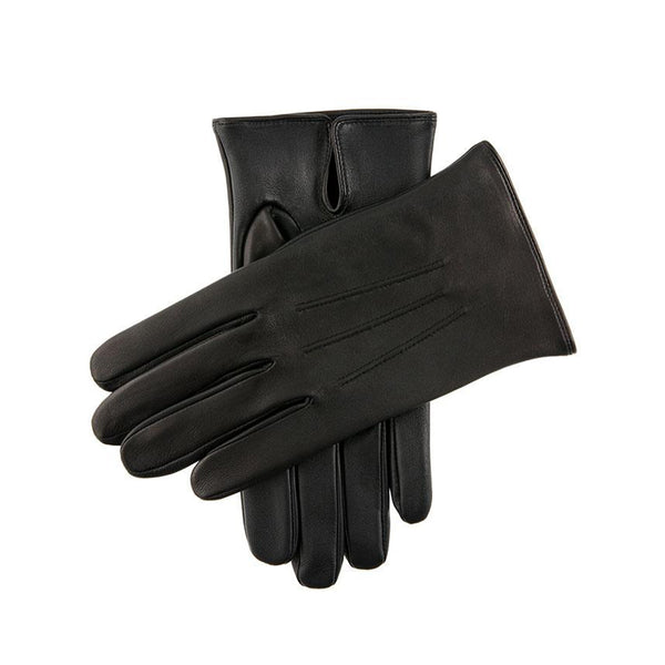 Black Elton Unlined Touchscreen Leather Gloves