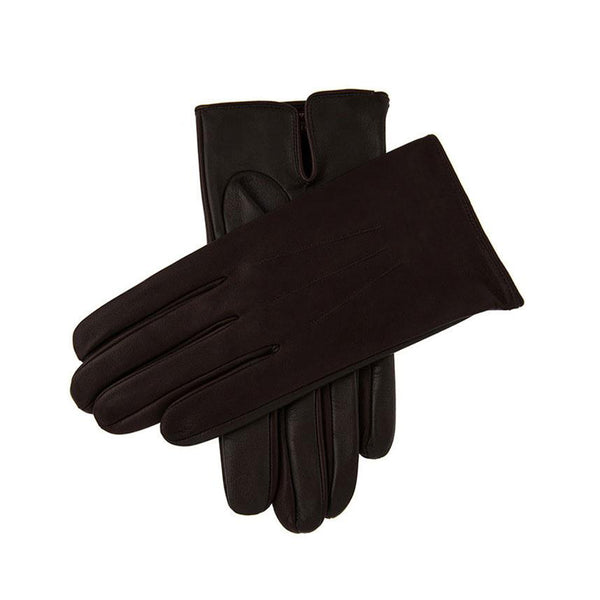 Brown Elton Unlined Touchscreen Leather Gloves