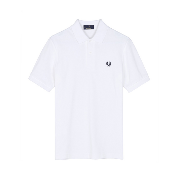 White & Navy M3 Polo Shirt