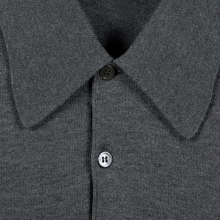 Charcoal Finchley Long Sleeved Polo