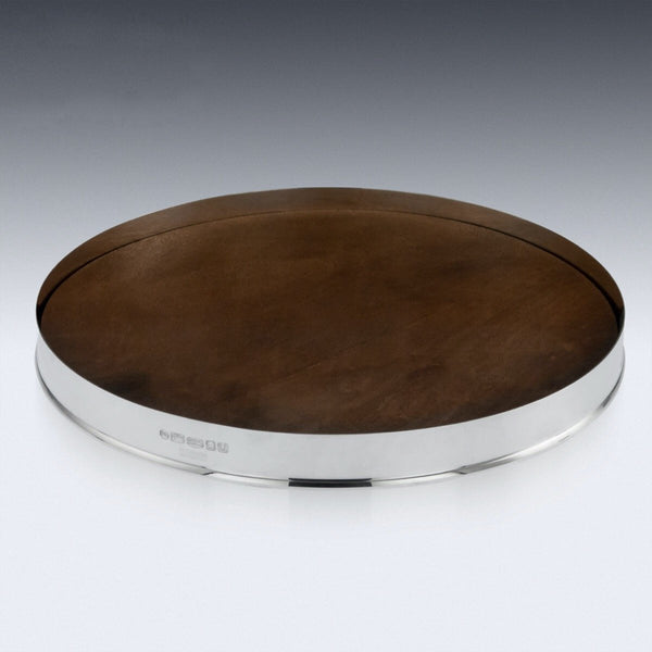 Hunters Solid Silver & Wood Drinks Serving Tray, Pushkin Alexander c.2019