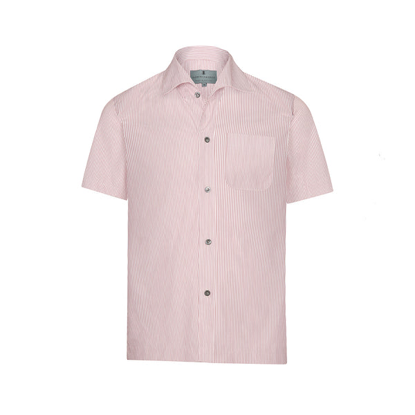 Pink Stripe Short Sleeve Marina Shirt