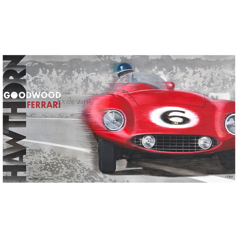 Hawthorne Ferrari Goodwood Limited Edition Print