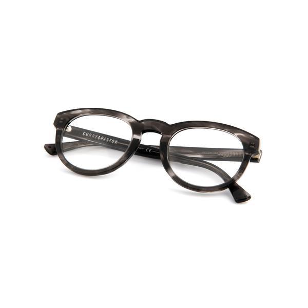 Dark Grey Tortoiseshell Freddie Frames with Grey Clip-ons
