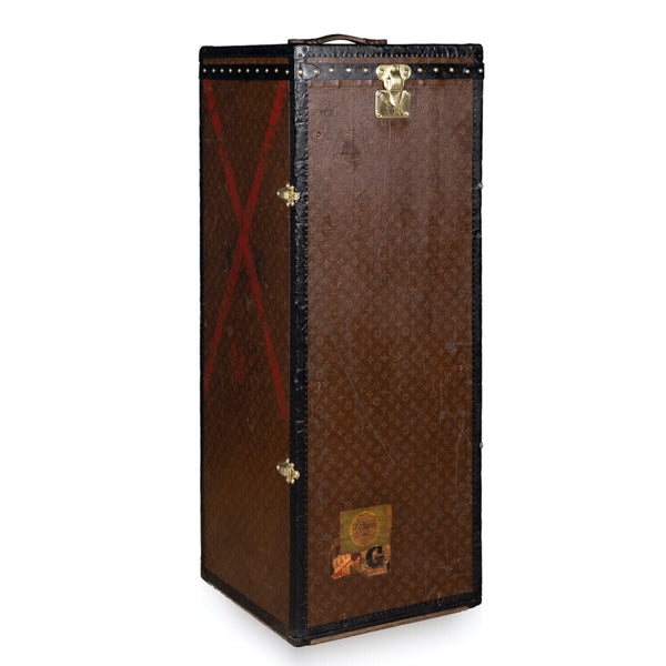 "Antique Extremely Rare Louis Vuitton ""Male Penderie"" Trunk C.1910"