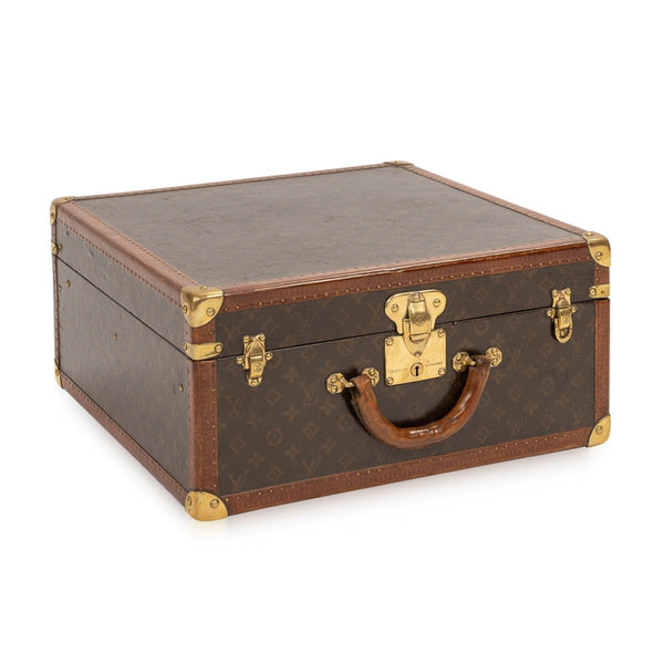 Antique Louis Vuitton Hat Trunk In Monogram Canvas, Paris C.1920
