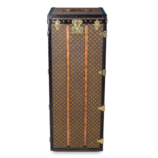 Antique Rare Louis Vuitton Monogram Malle Penderie Trunk C.1910