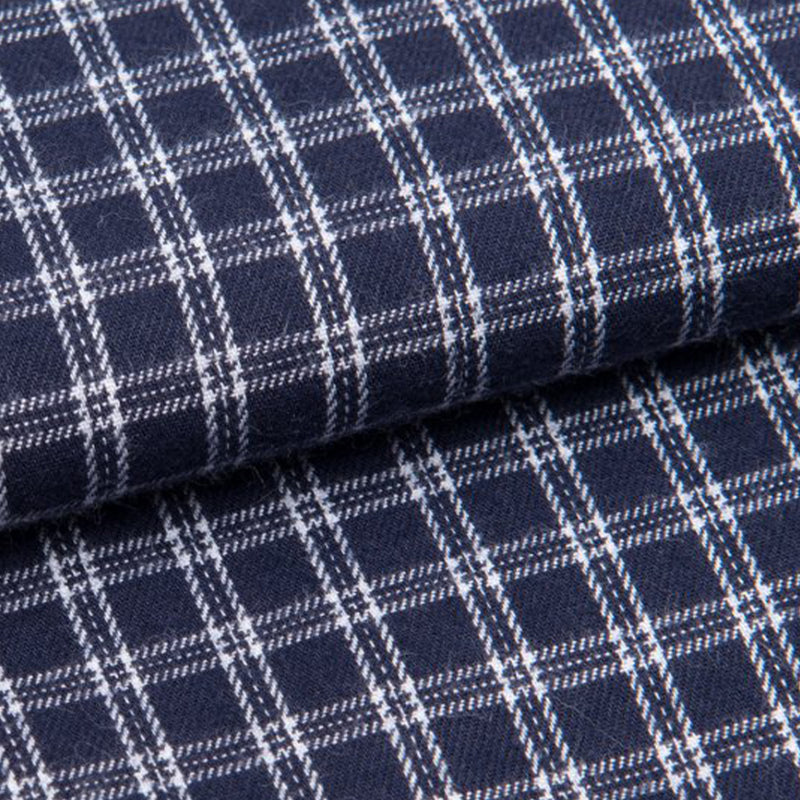 Braemar 32 Navy Check Brushed Cotton Lounge Trousers
