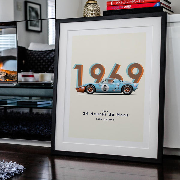 The Two Time Champion - GT40 1969 Motorsport Poster