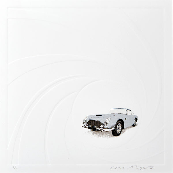 Aston Martin DB5 Embossed Screenprint