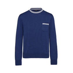 Navy Mock Turtleneck Sweater