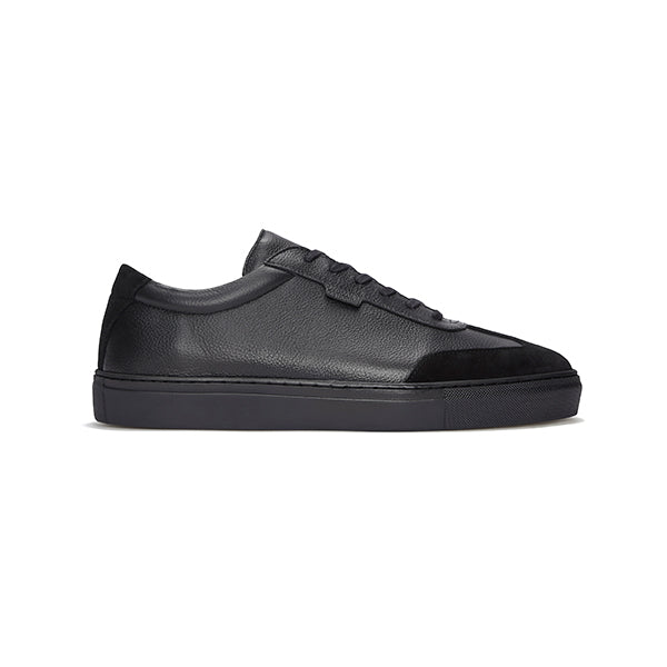 Triple Black Tumbled Leather Series 3 Sneakers
