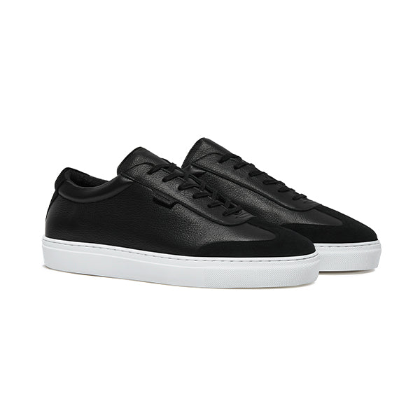 Double Black Tumbled Leather Series 3 Sneakers