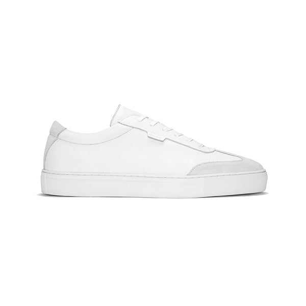 White Tumbled Leather Series 3 Sneakers