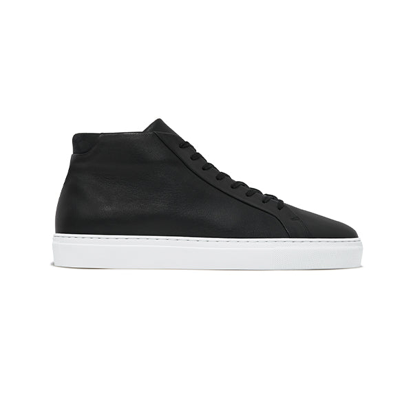 Double Black Leather Series 4 Sneakers