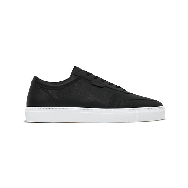 Double Black Leather Series 6 Sneakers