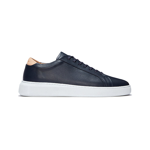 Navy Leather Series 8 Sneakers