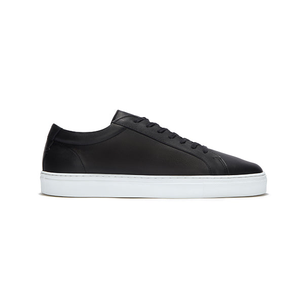 Double Black Leather Series 1 Sneakers