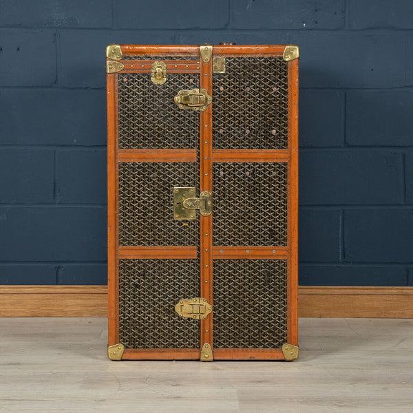"Copy of Antique Louis Vuitton Hat Trunk In Orange ""Vuittonite"" Canvas C.1920"