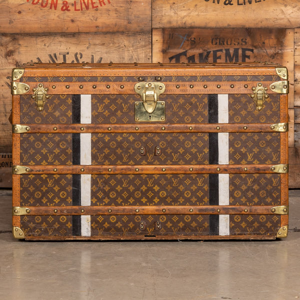 Antique Louis Vuitton Cabin Trunk In Monogrammed Canvas, Paris C.1910