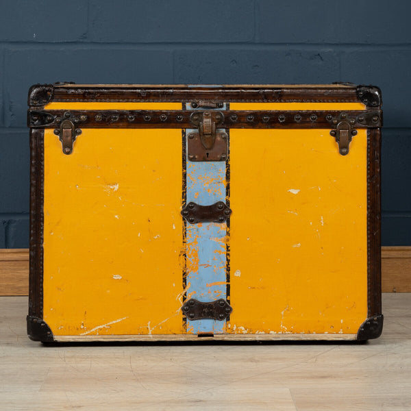 "Antique Louis Vuitton Hat Trunk In Orange ""Vuittonite"" Canvas C.1920"