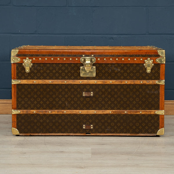Stunning Louis Vuitton Courier Trunk In Monogram Canvas, Paris C.1930