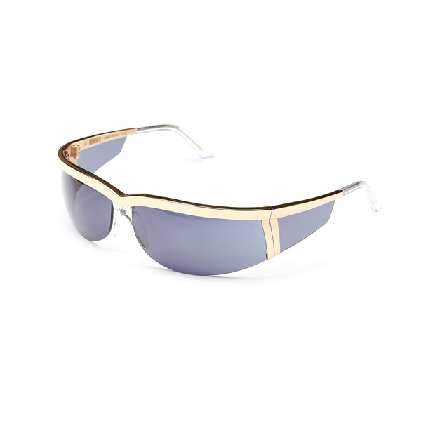 Rossano Gold Sunglasses with Mattise Blue