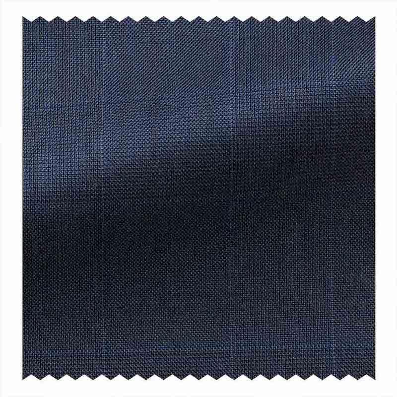 Dark Blue Glen Plaid Super 150's 9oz