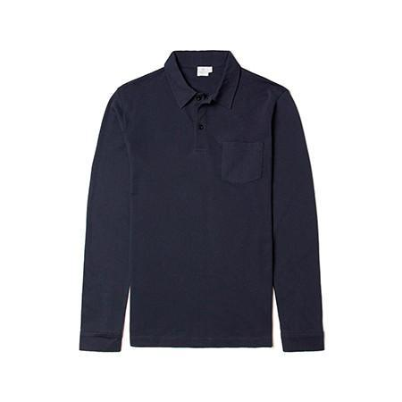 Sunspel Long Sleeve Riviera Polo Shirt  |  Anthony Sinclair - 1