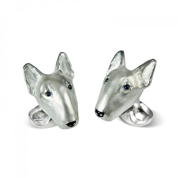 Sterling Silver English Bull Terrier Cufflinks