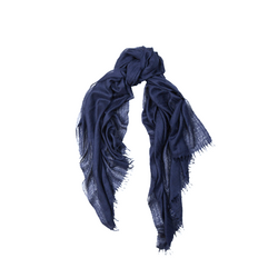 Mason & Sons | Begg & Co Staffa Lightweight Cashmere and Silk Scarf in Navy -1