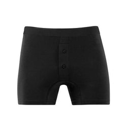 Black Superfine Cotton Two Button Shorts