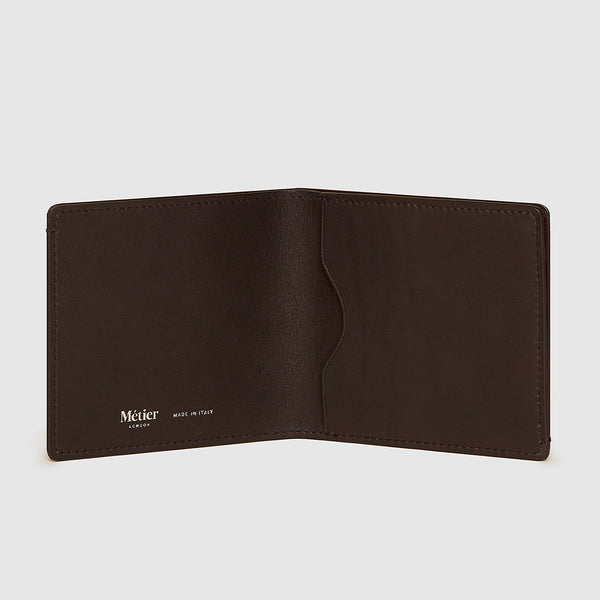 Cafe Natural Calfskin Thin Billfold