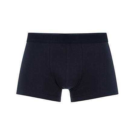 Navy Stretch Cotton Low Waist Trunk