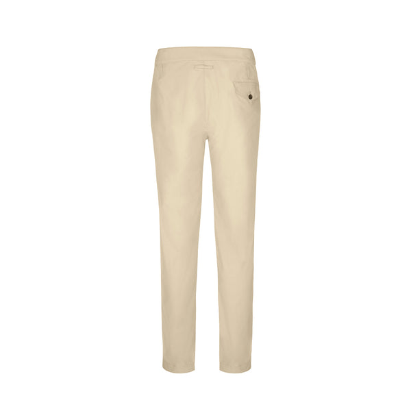Cream Brushed Twill Cruiser Trouser