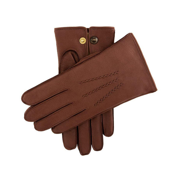 Bark Fur Lined Deerskin Leather Gloves