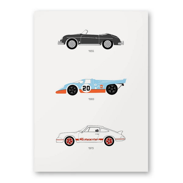 A Thoroughbred Drive - Porsche Poster