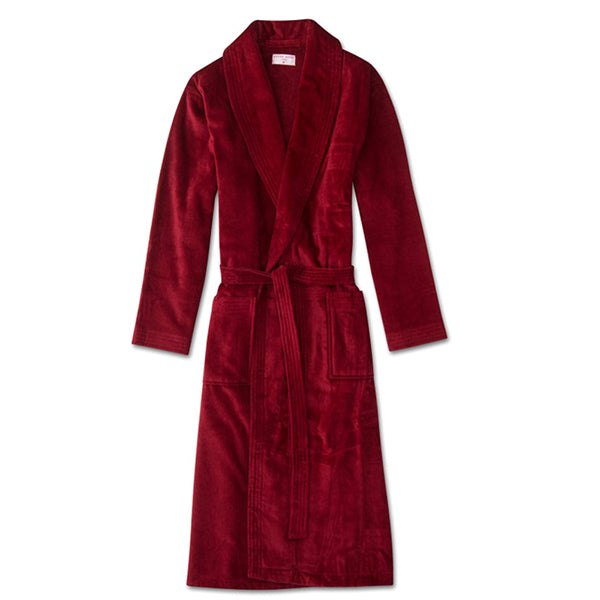 Triton 10 Wine Cotton Velour Towelling Gown