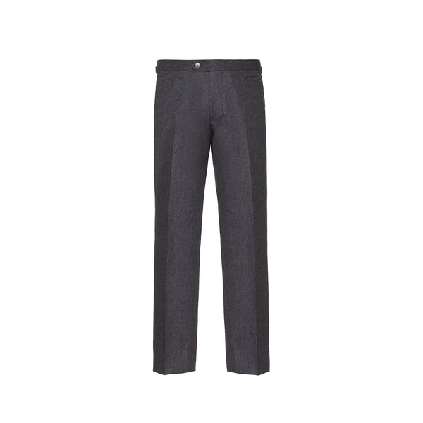 Mid Grey Slim Fit Flannel Trousers